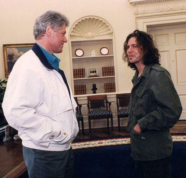 Vedder and Clinton