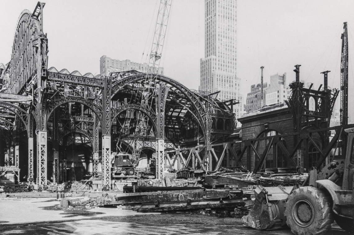 Untitled [The demolition of Pennsylvania Station, 1964-1965.]